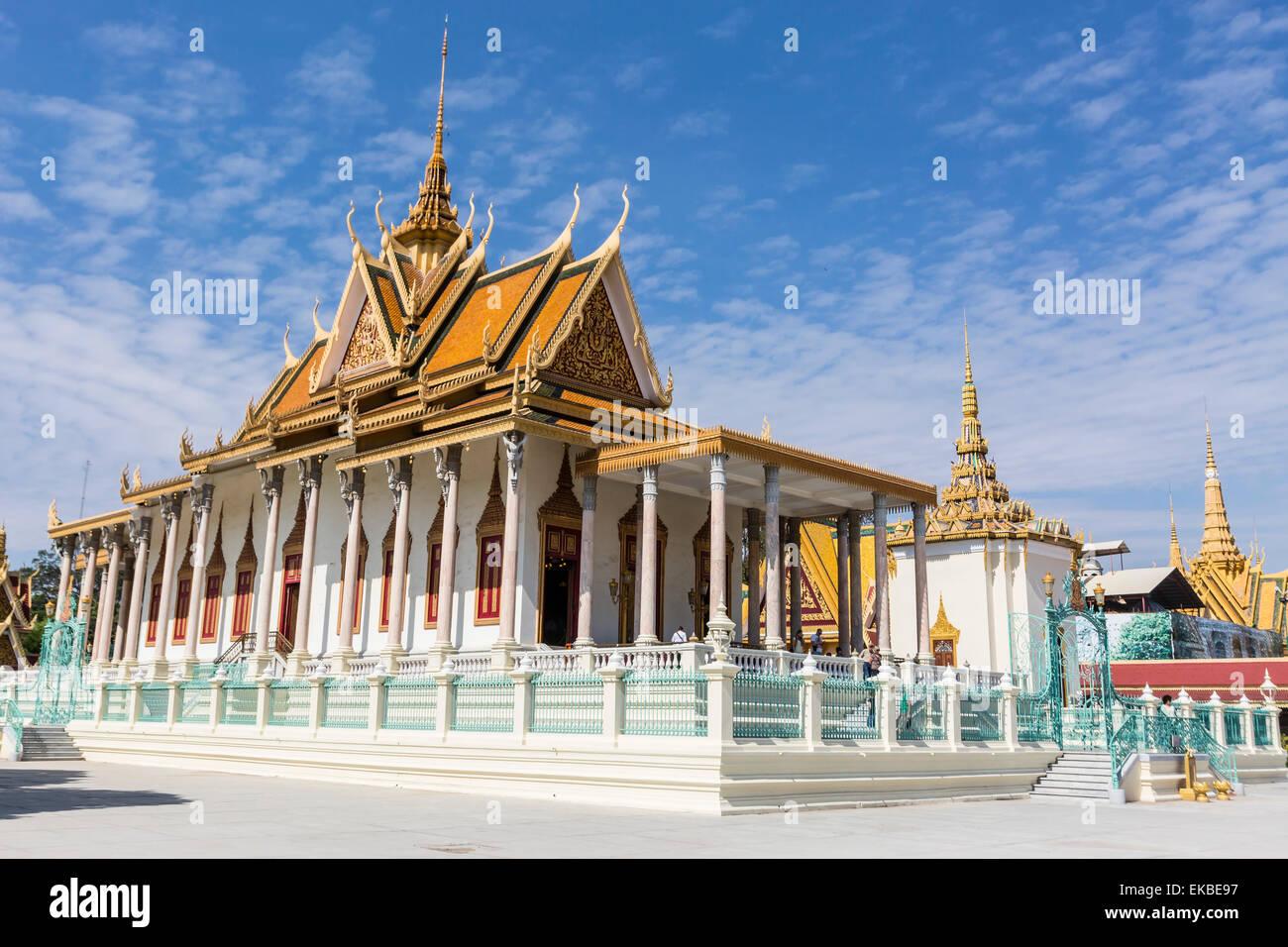 Die Silberpagode (Wat Preah Keo) in der Hauptstadt Phnom Penh, Kambodscha, Indochina, Südostasien, Asien Stockfoto