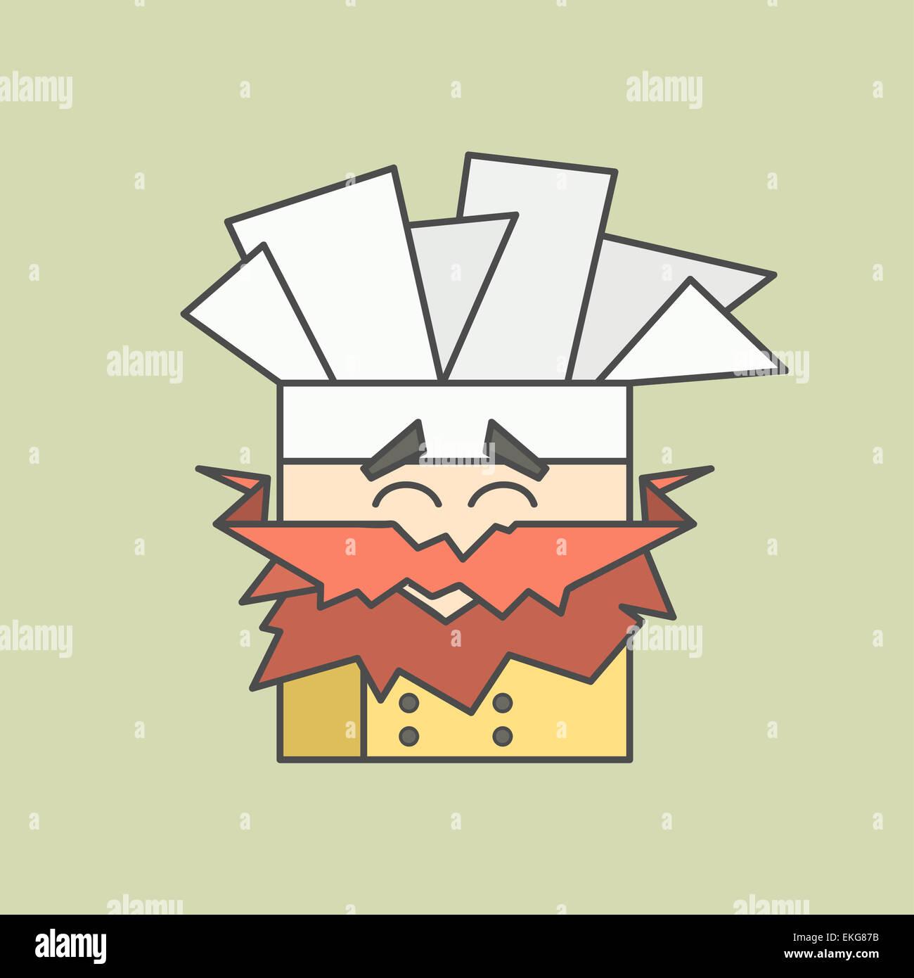 Cartoon mustache face stockfotos cartoon mustache face for Koch mit bart
