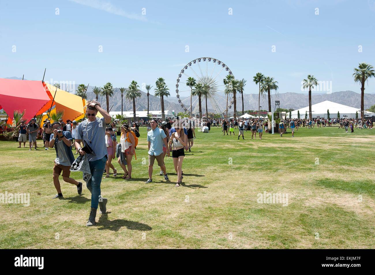 Indio, Kalifornien, USA. 10. April 2015. Allgemeine Atmosphäre des Coachella Music & Arts Festival 2015, Stockbild