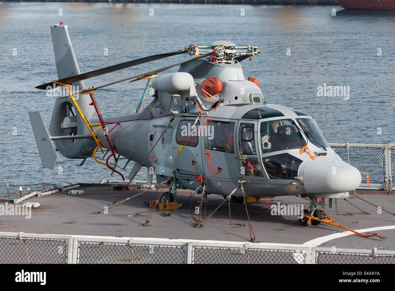 Marine Rettungshubschrauber Stockbild