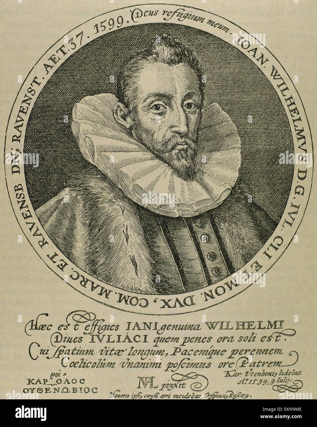 John Wilhelm von Jülich-Cleves-Berg (1562-1609). Herzog von Jülich-Cleves-Berg.  Deutsche edel und religiös. Stockbild