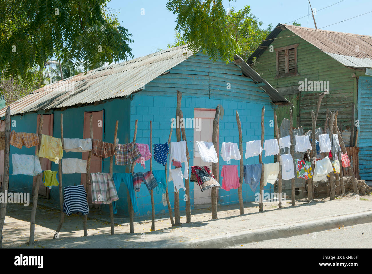Dominikanische Republik, Südwesten, Azua, Pueblo Viejo, Stockbild