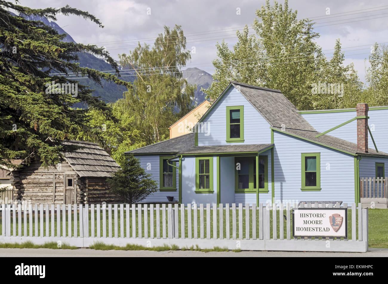 Historischen Moore Homestead in Skagway, Alaska Stockbild