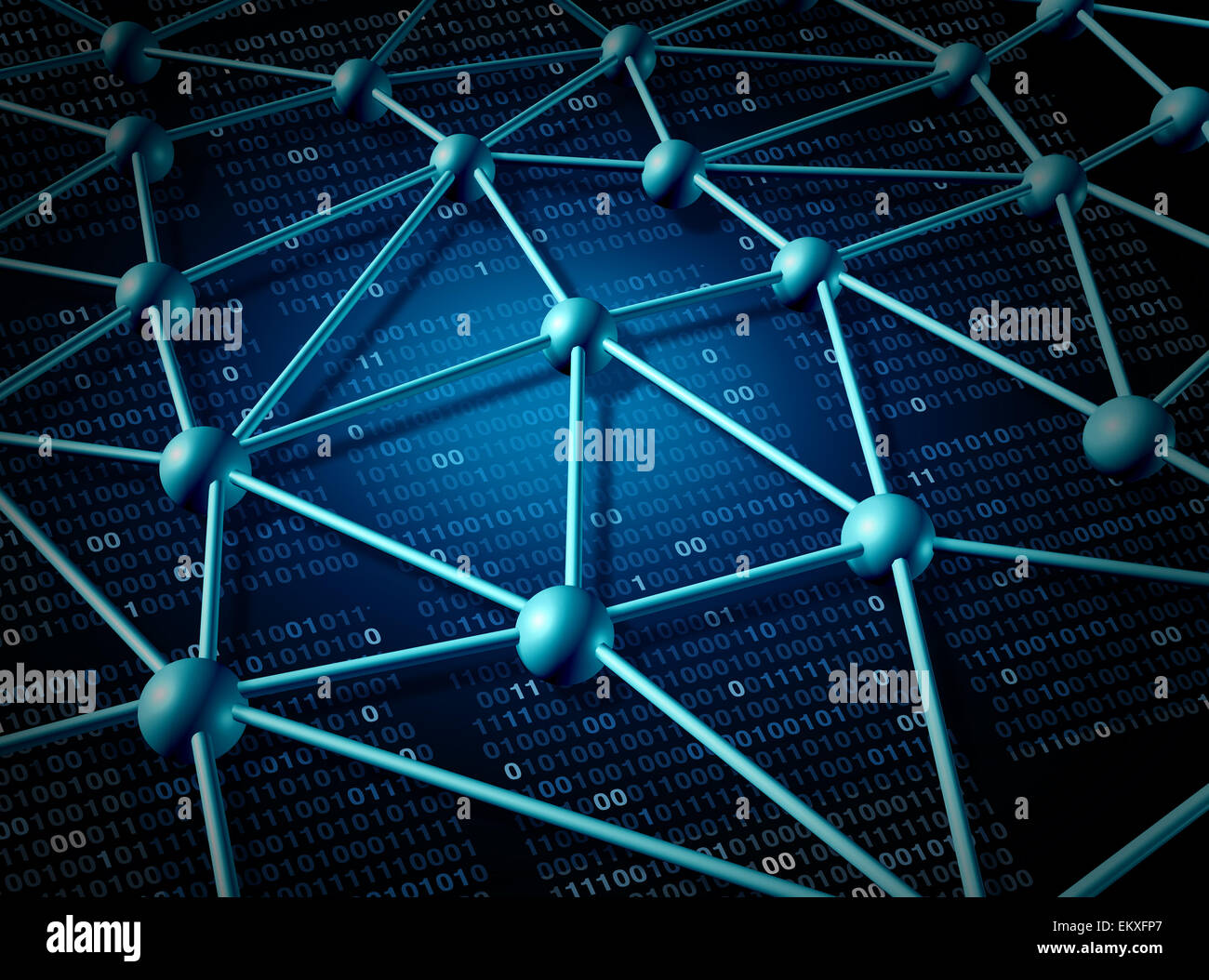 Telekommunikation Netzwerk Struktur und Vernetzung Konzept mit Verbindung Netz auf das Internet als abstrakt Business Stockfoto