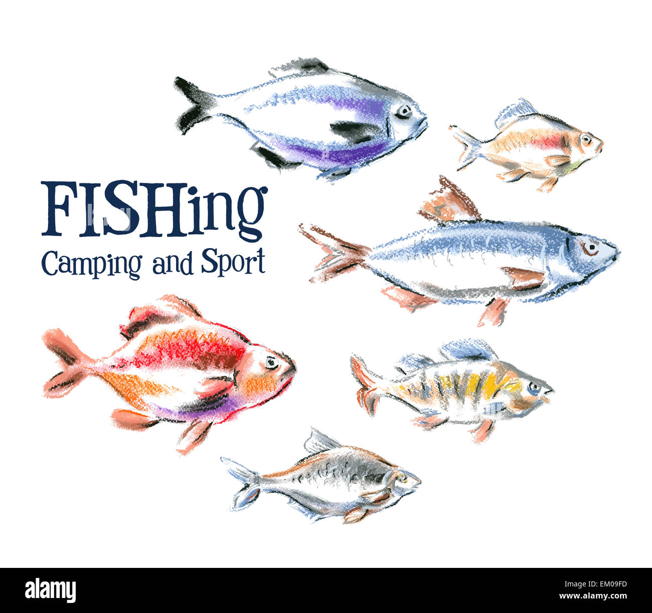 Fishing Vector Logo Design Template Stockfotos & Fishing Vector Logo ...