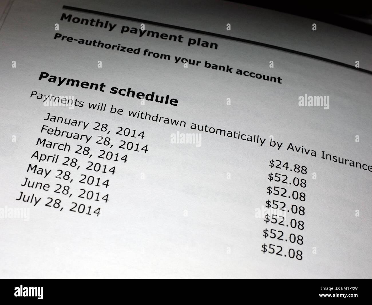 Fantastisch Monatliche Zahlungsplanvorlage Galerie - Beispiel ...
