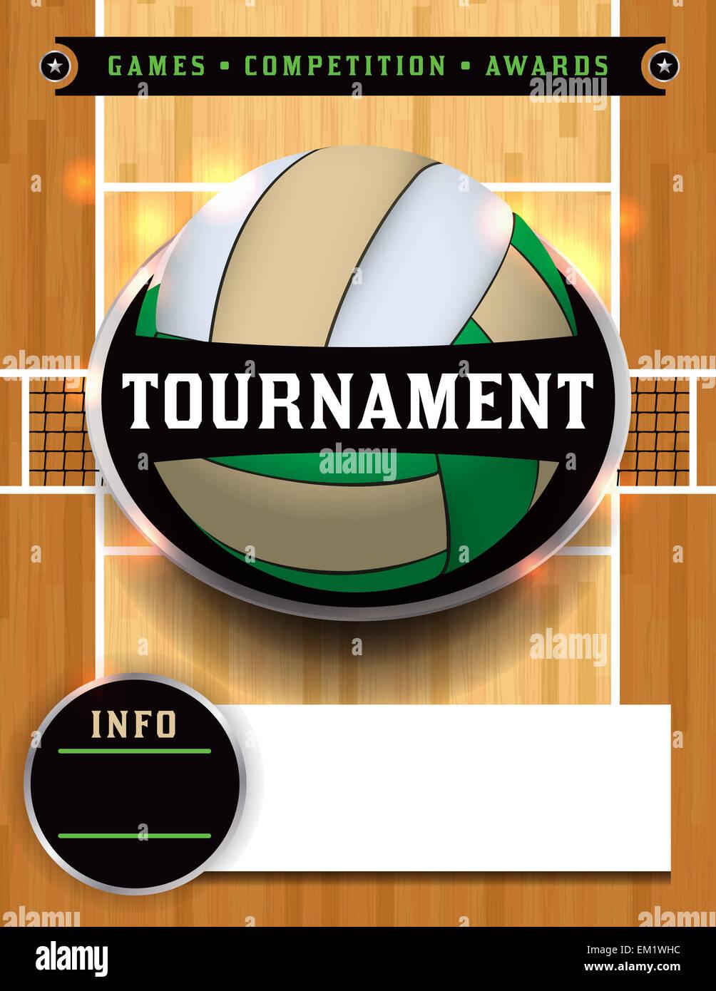 Ein Beispiel für ein Volleyball Turnier Poster oder Flyer Einladung ...