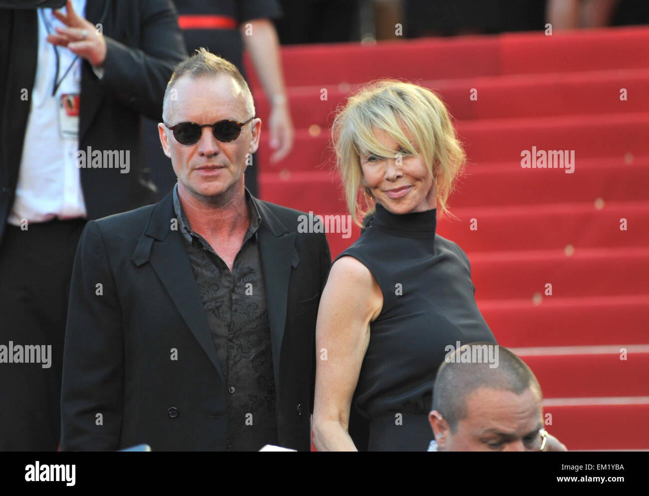 """CANNES, Frankreich - 26. Mai 2012: Sting & Trudie Styler bei der Gala-Vorführung von """"Schlamm"""" in Cannes. 26. Mai Stockfoto"""