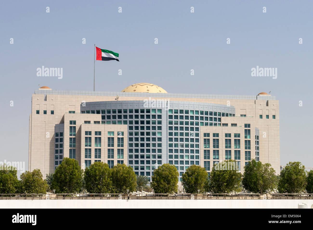 Ministry of Foreign Affairs in Abu Dhabi, Vereinigte Arabische Emirate Stockbild