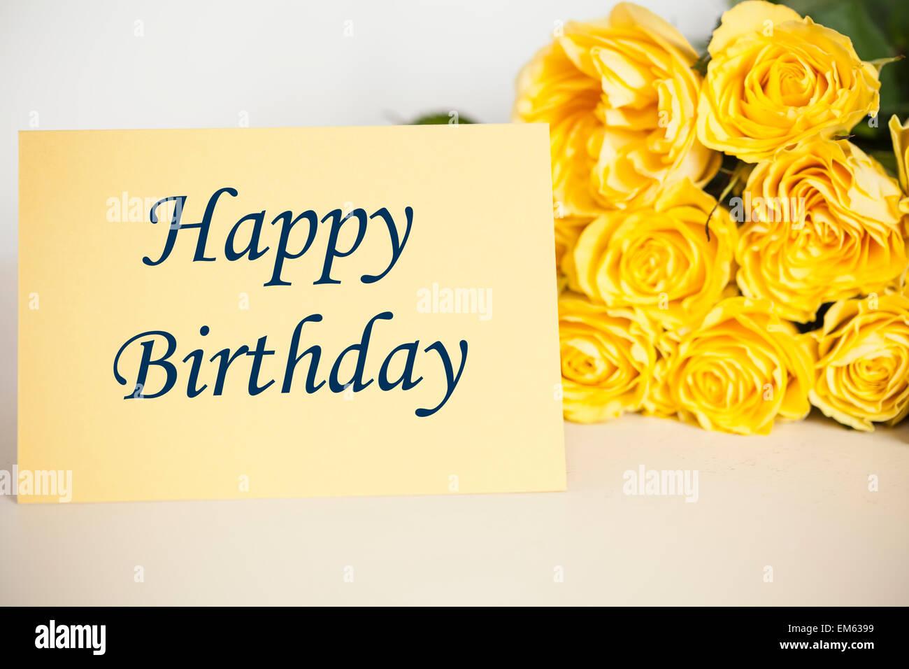 Herzlichen Glückwunsch Zum Geburtstag Stockfoto Bild