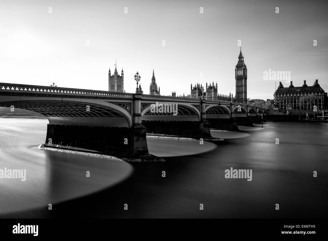 Big Ben ist der Spitzname für die große Glocke der Uhr auch bekannt als Uhrturm und Elizabeth Tower. Stockfoto