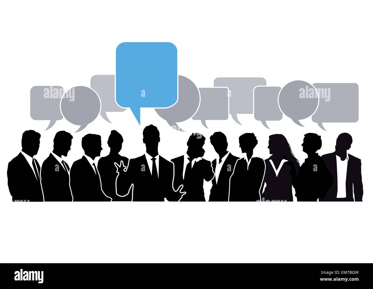 Brainstorming-Chat Stockbild