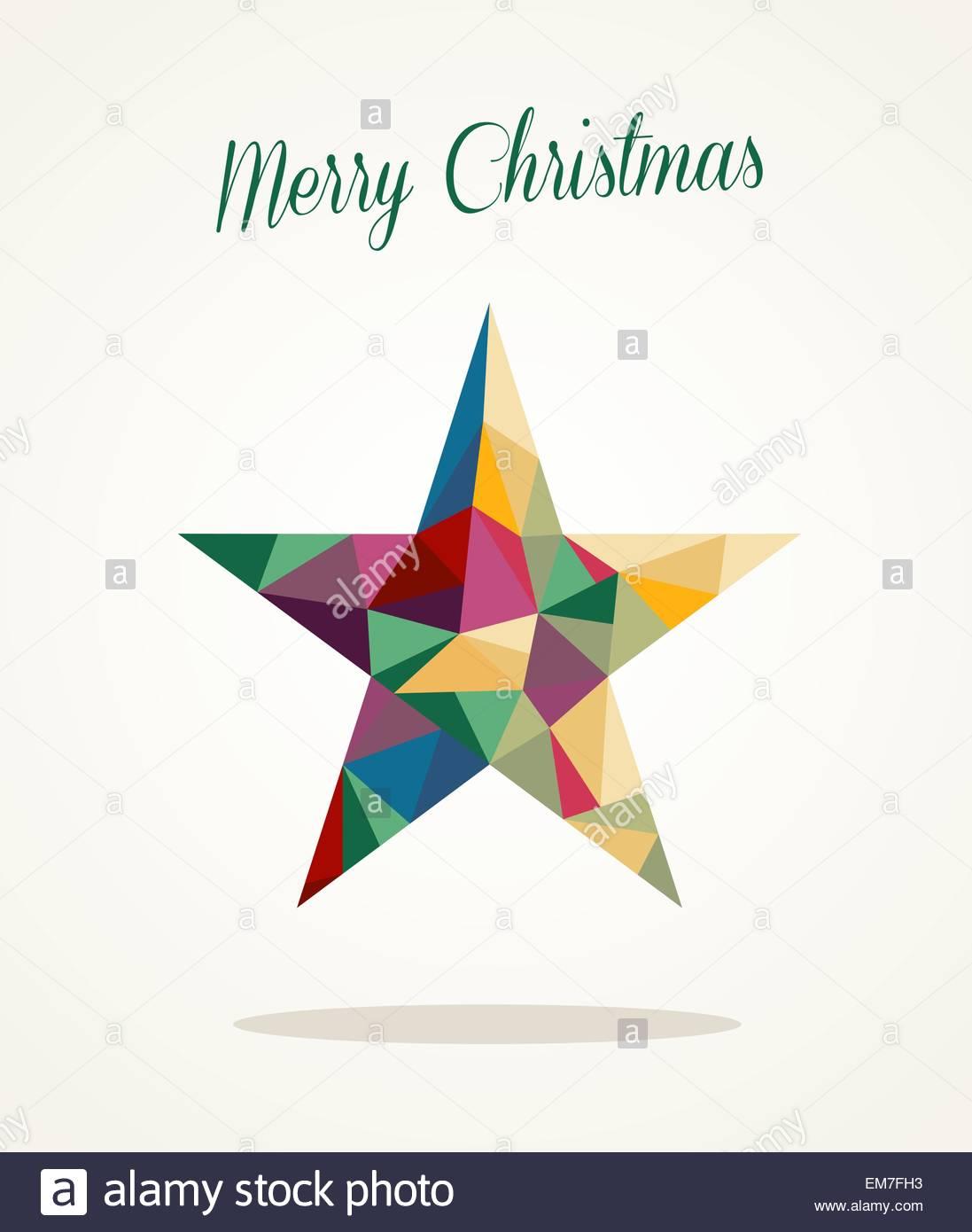 Stern Frohe Weihnachten.Frohe Weihnachten Zeitgenossische Dreieck Stern Grusskarte