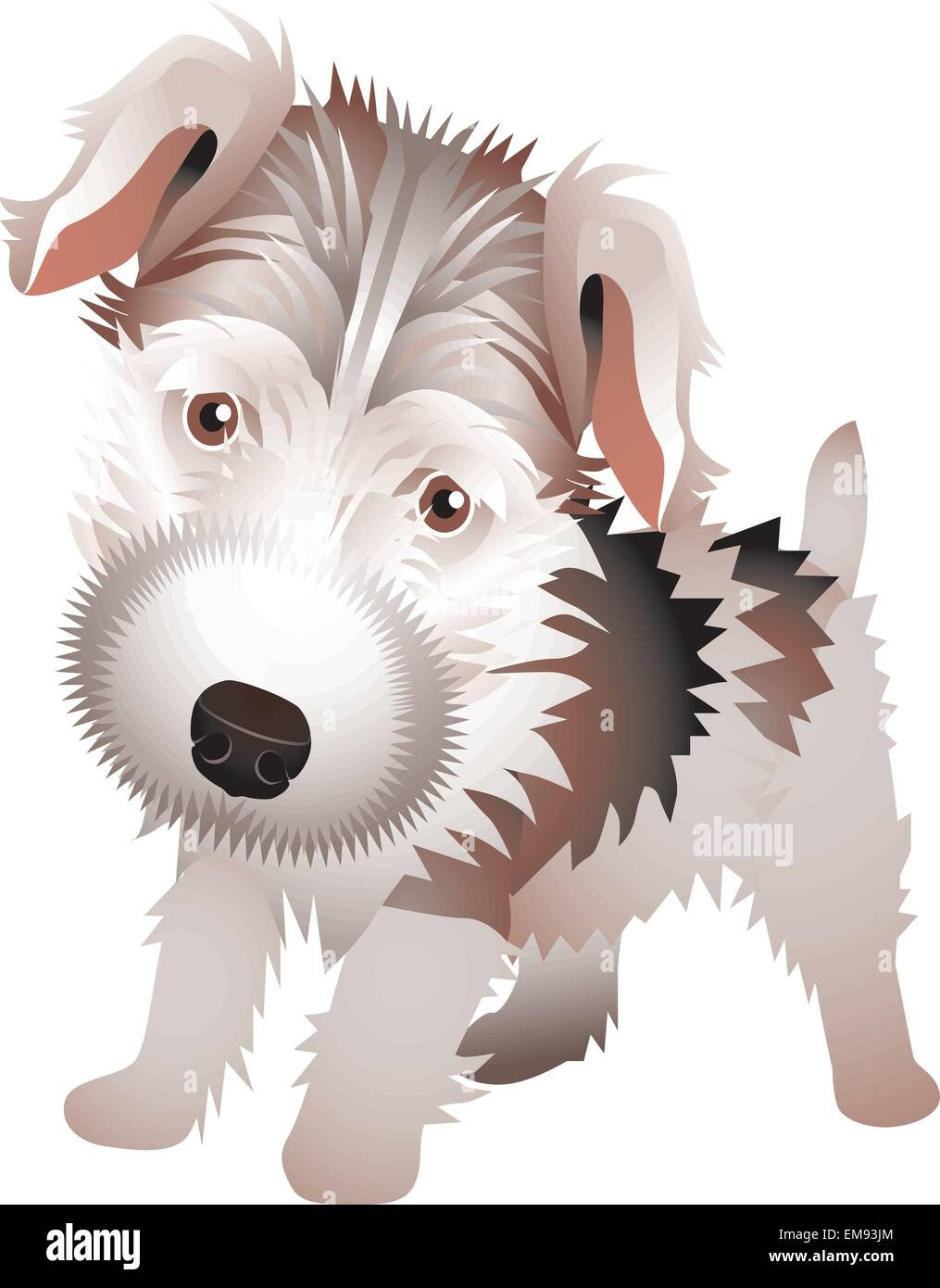 Dog Cartoon Drawing Sitting Vector Stockfotos Dog Cartoon Drawing