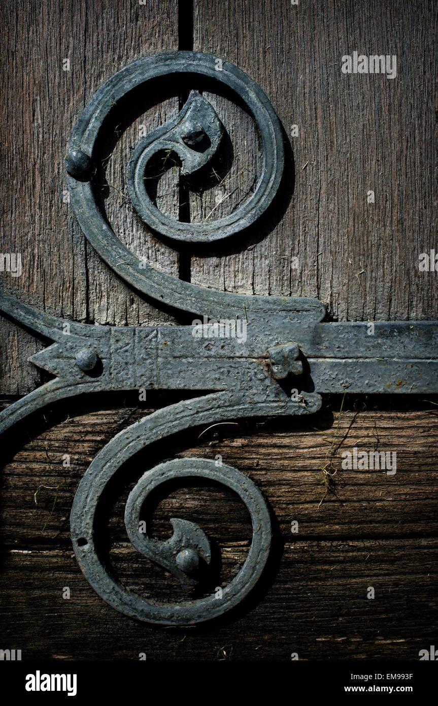 sehr alte schmiede gemacht, handgefertigte metall eisen scharnier