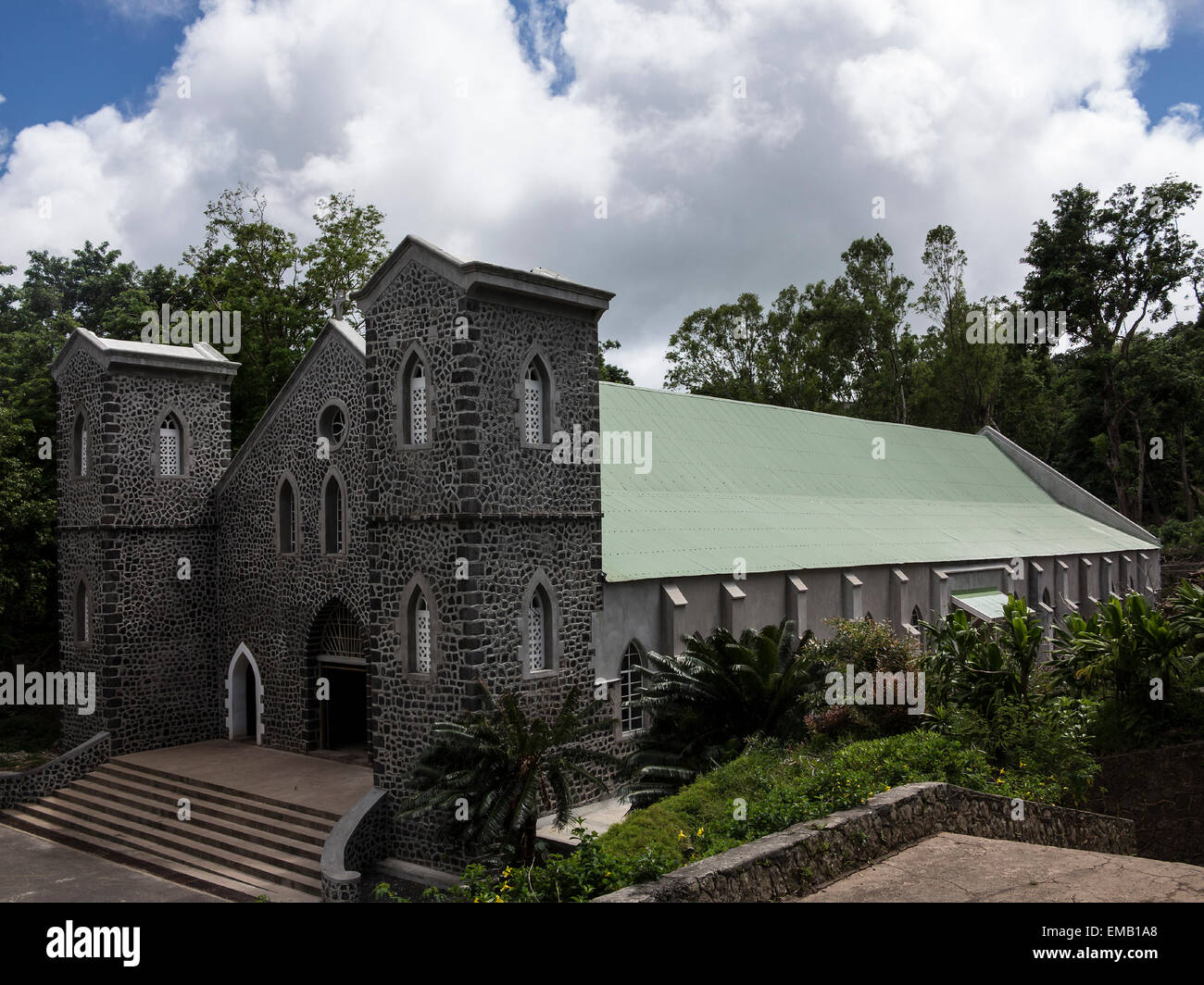 Kathedrale von St. Gabriel auf der Insel Rodrigues, Mauritius Mascaregnes l ' Océan indien Stockbild