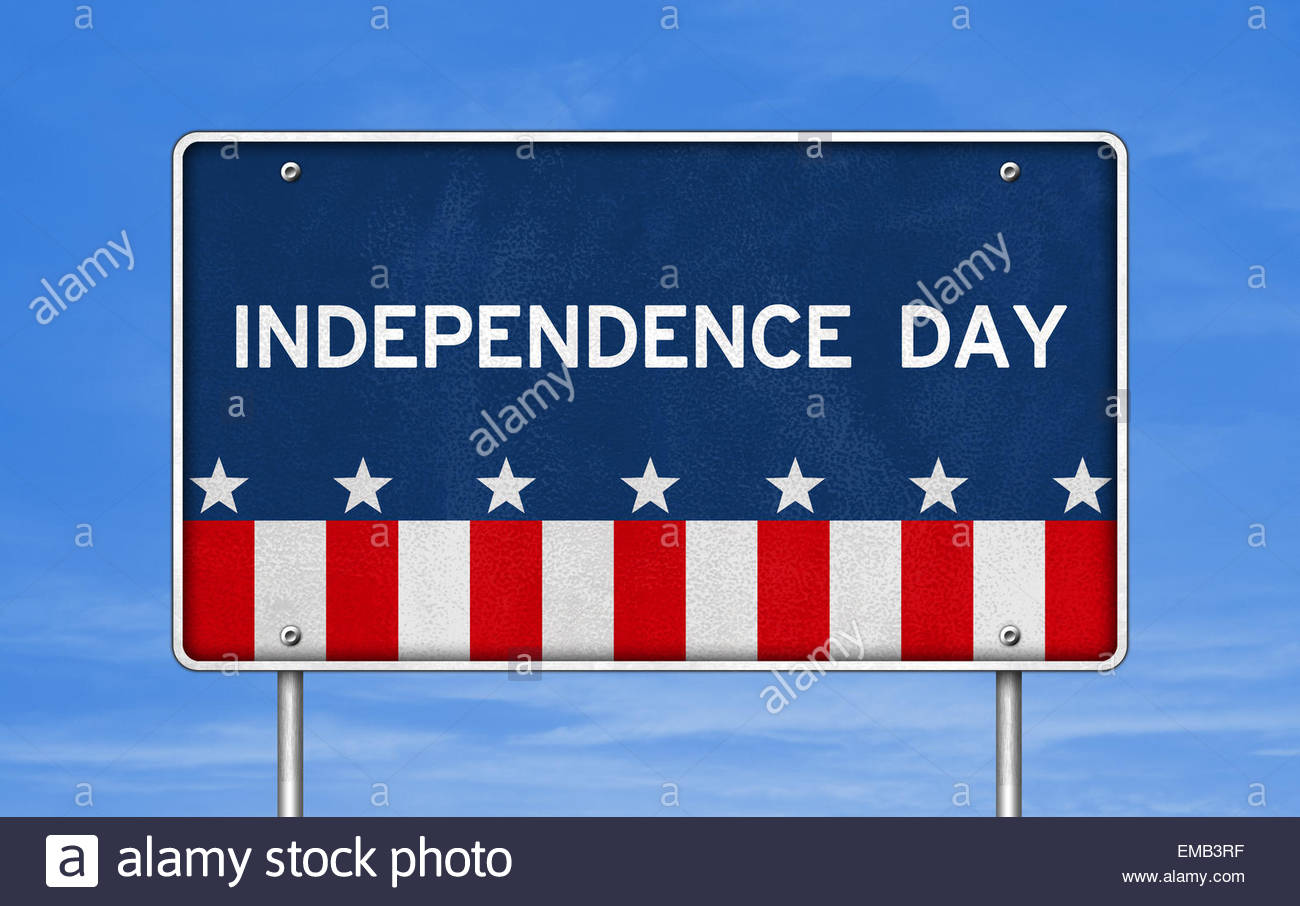 Independence Day Symbol logo Stockbild