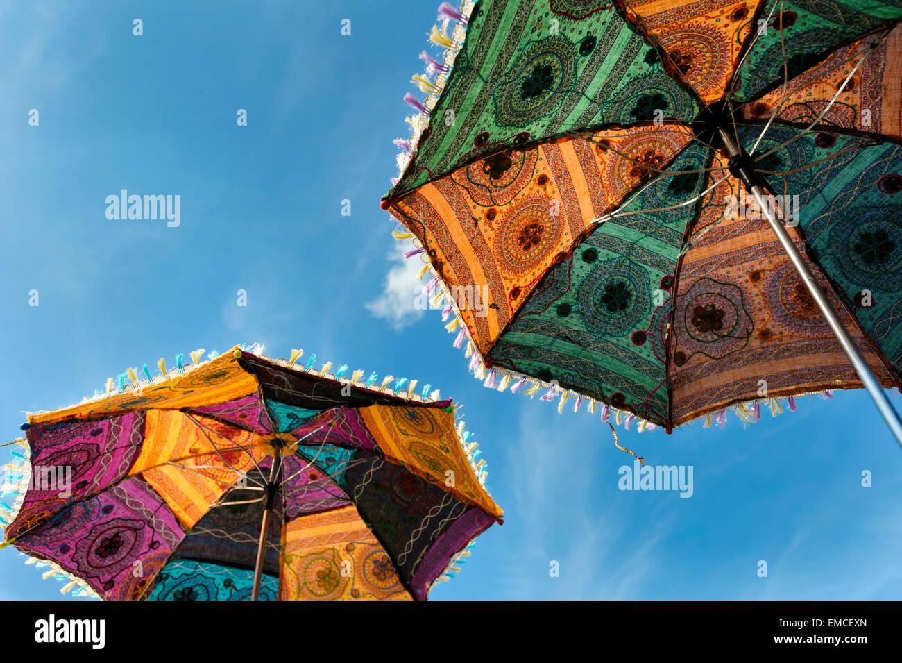 Indische Sonnenschirme Stockfotos Indische Sonnenschirme Bilder
