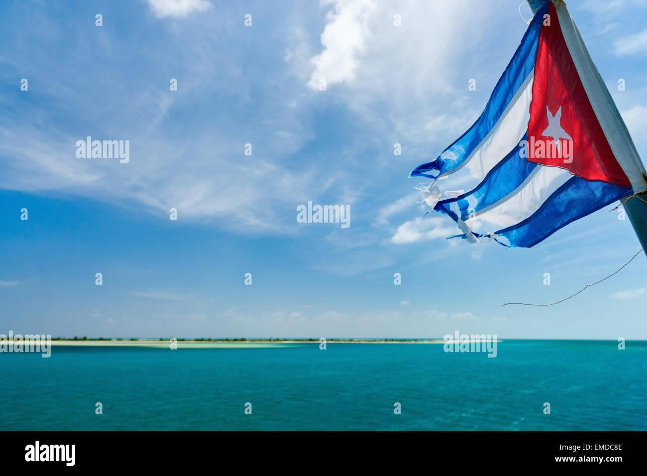 Kubanische Flagge Stockbild
