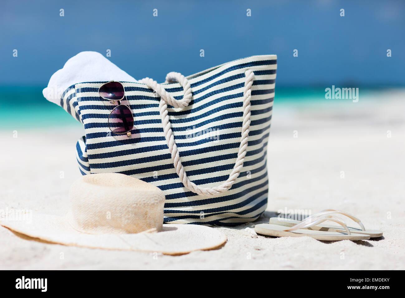 Urlaub am Strand Stockbild