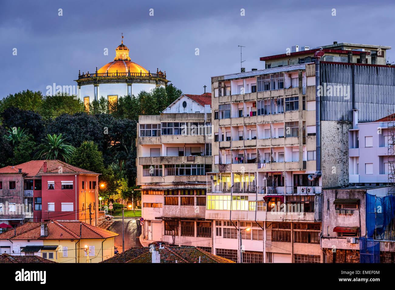Vila Nova De Gaia, Portugal Serra de Pilar Kloster. Stockbild