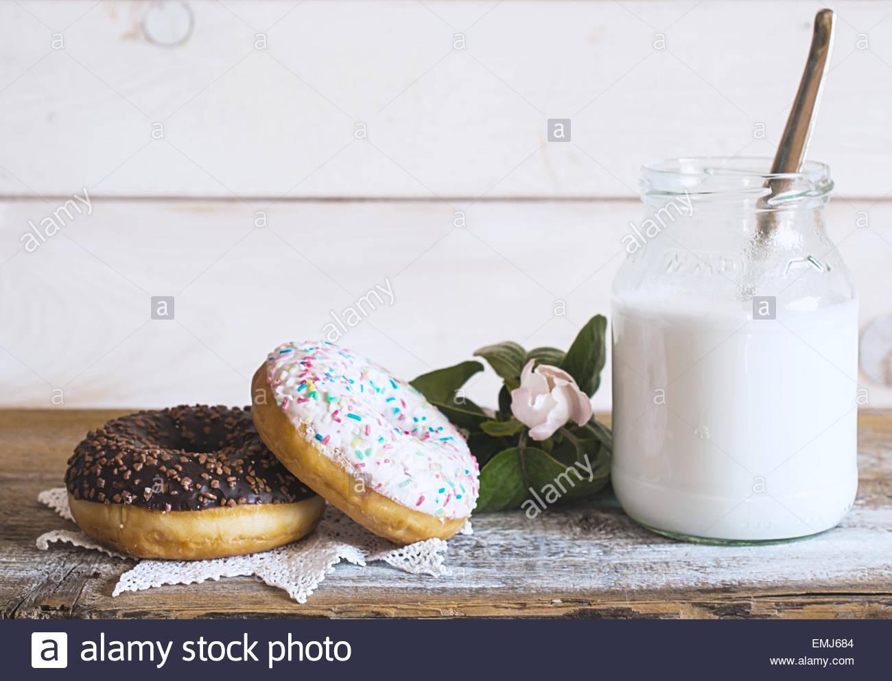 Vintage donuts Stockbild