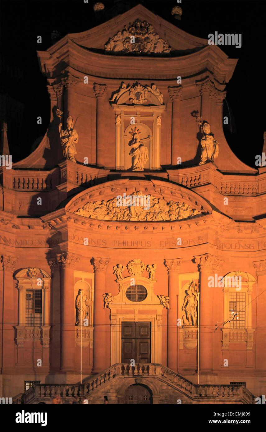 Deutschland Bayern Würzburg Neumünster Kirche Stockbild