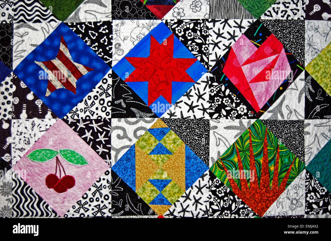 Patchwork Quilt Sewing Stockfotos & Patchwork Quilt Sewing Bilder ...