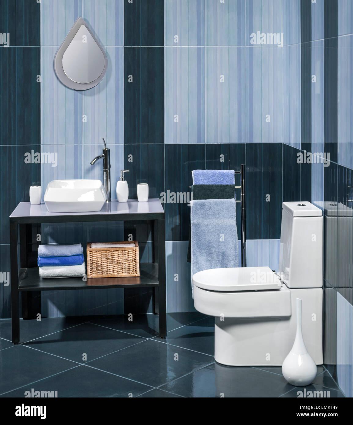 Detail von einem modernen Badezimmer mit Waschbecken ...
