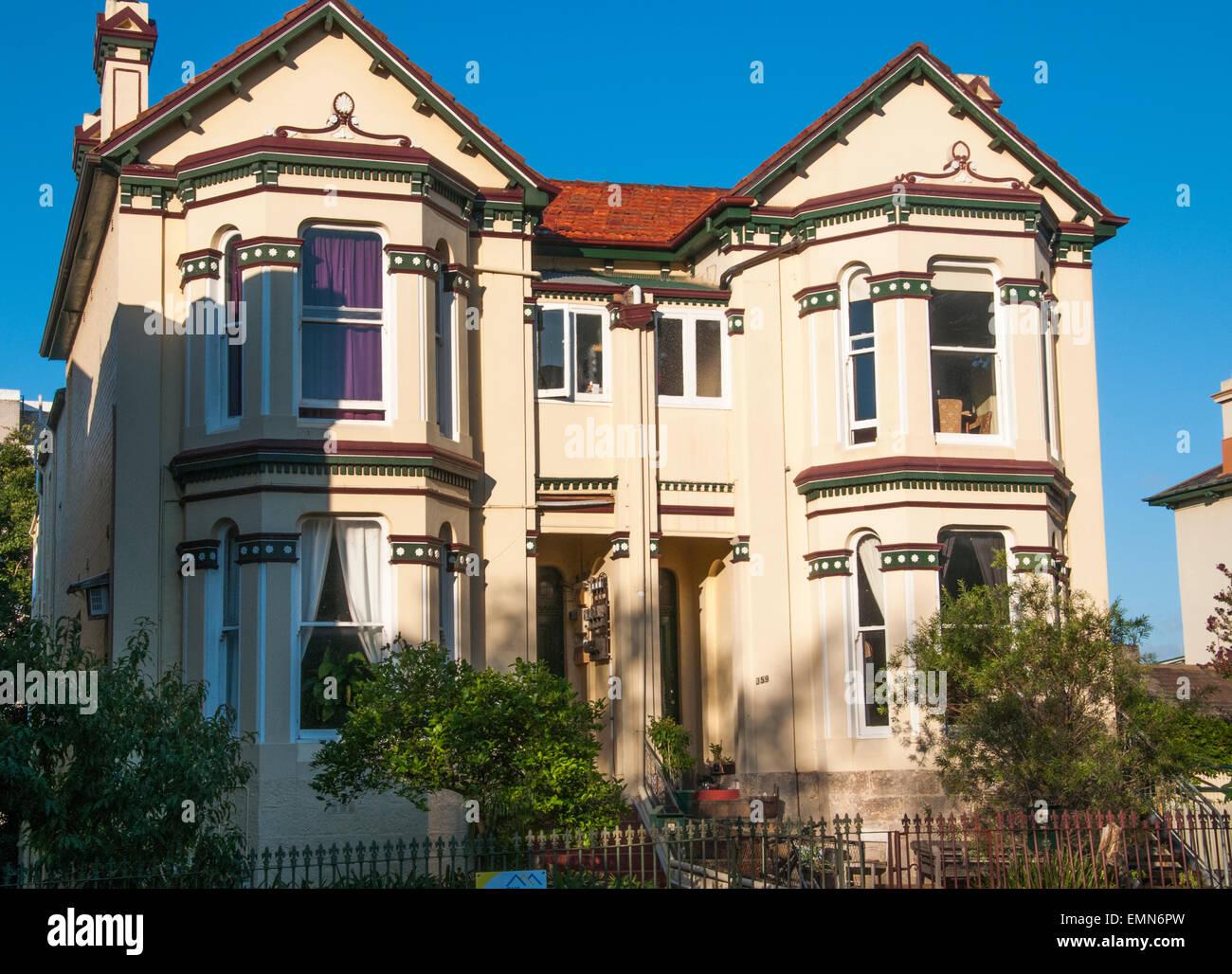 Victorian-Ära zweigeschossige duplex Häuser in Glebe, einer inneren ...