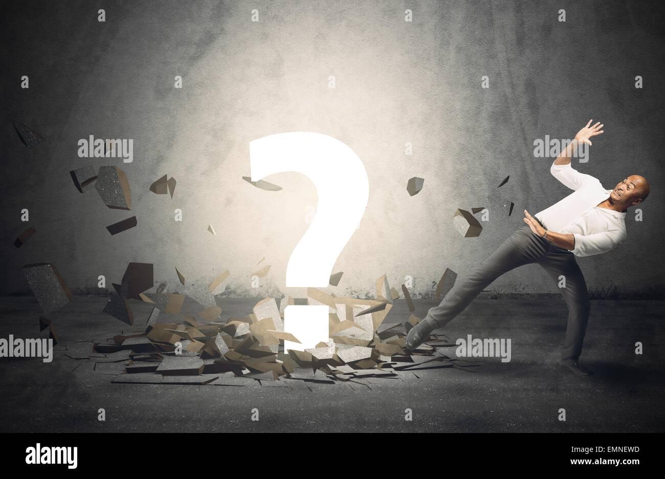 Große Frage Punkt Stockbild