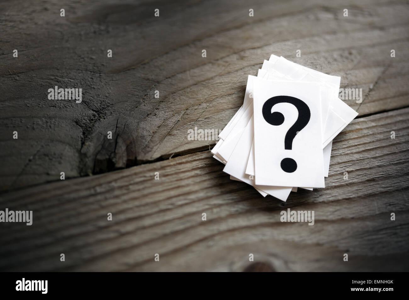 Fragezeichen Stockbild