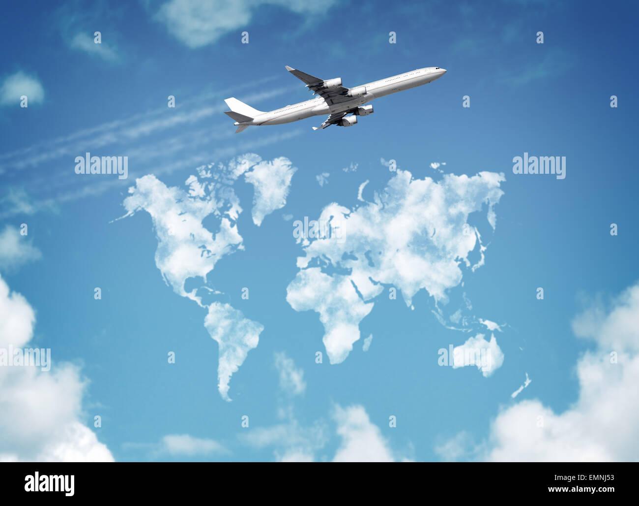 Weltreisen Stockbild