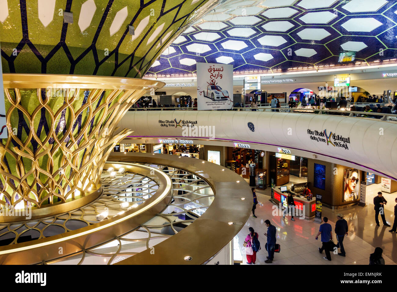 Abu dhabi airport interior stockfotos abu dhabi airport for Halle innenarchitektur
