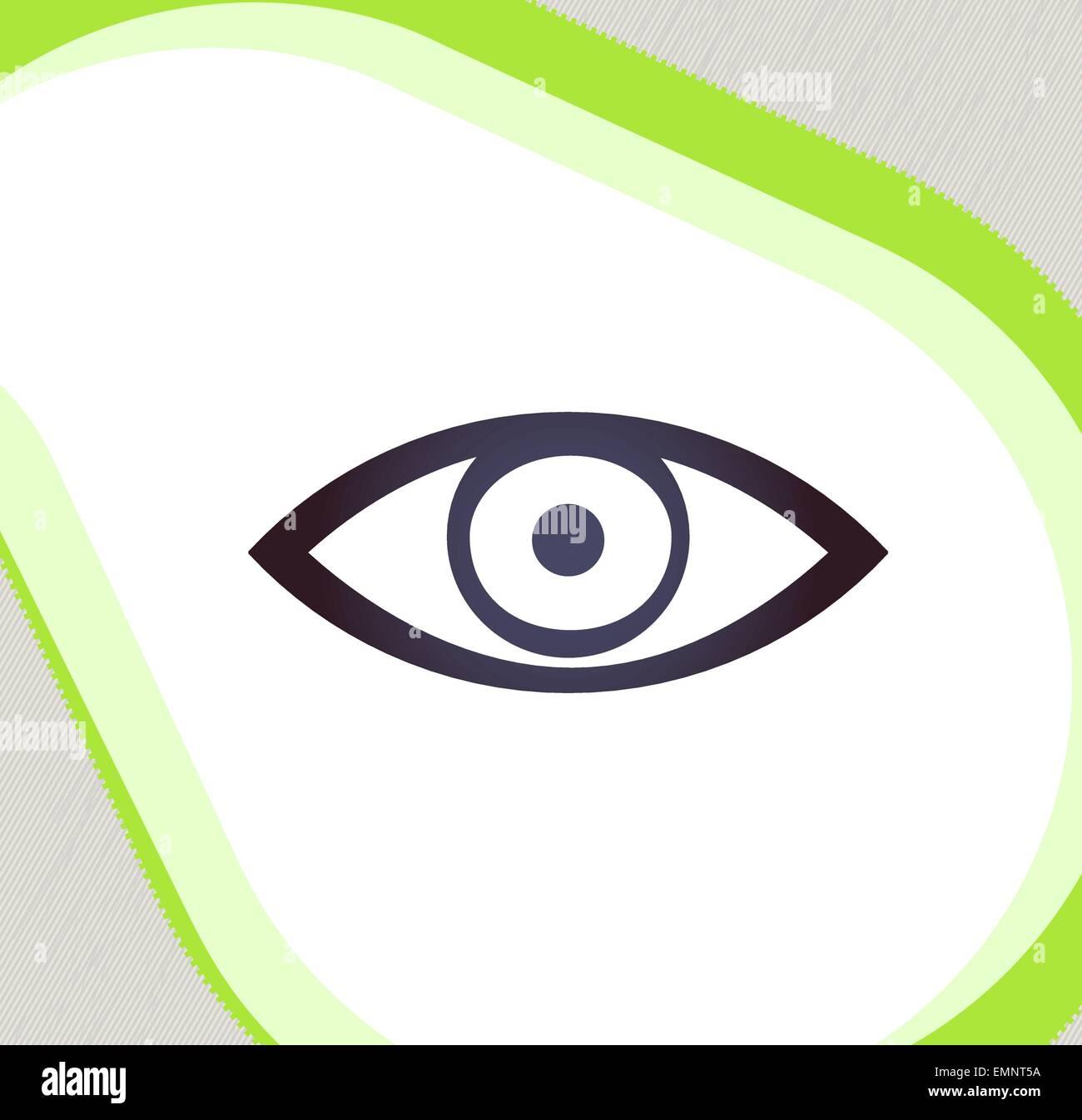 Auge. Retro-Stil-Emblem, Symbol, Piktogramm Stockbild