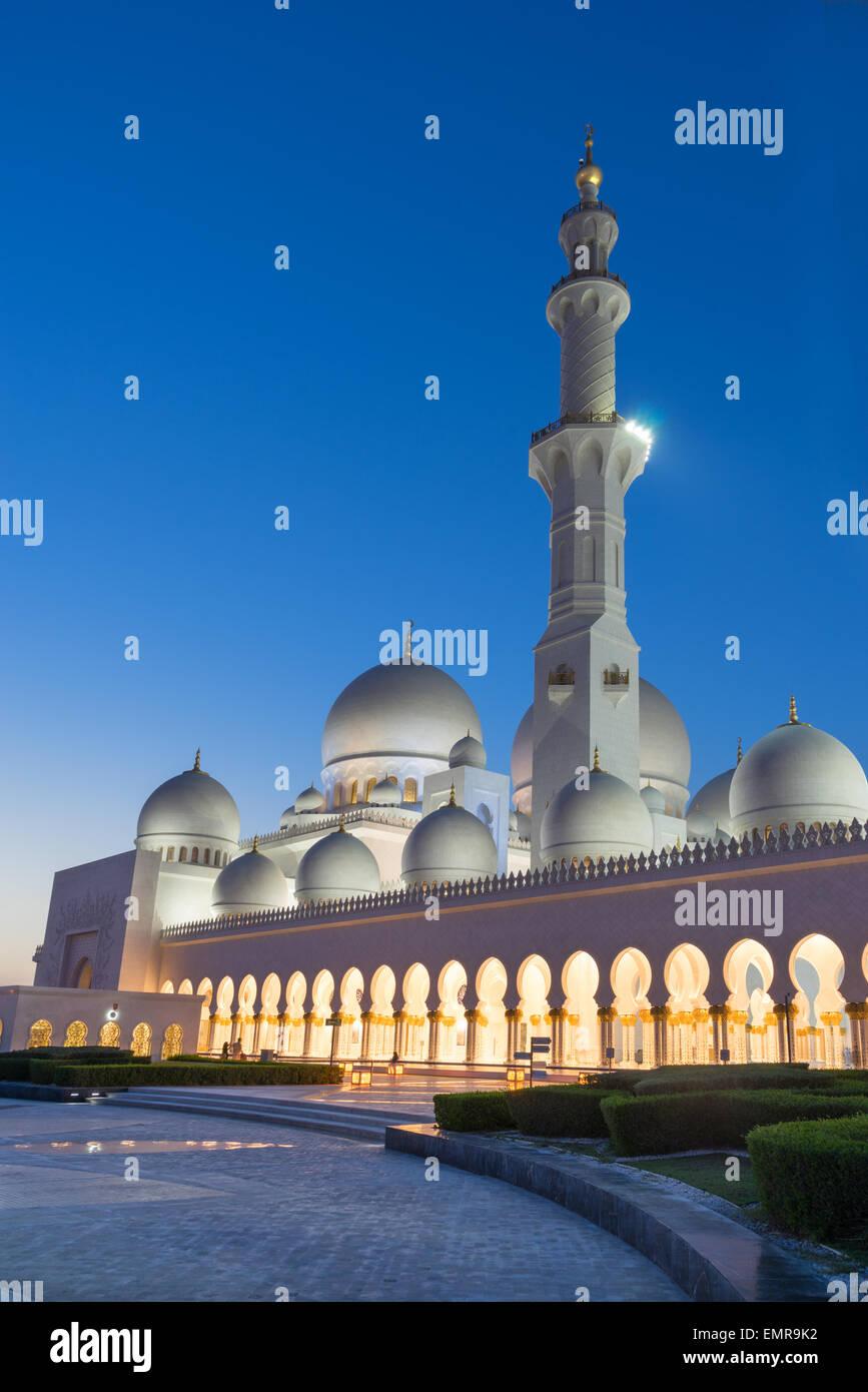 Sheikh Zayed Grand Moschee Stockbild