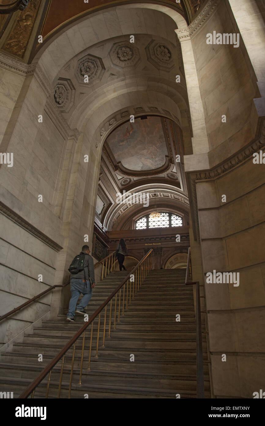 Schone Gewolbte Treppenhaus An Der Wichtigsten New York Public
