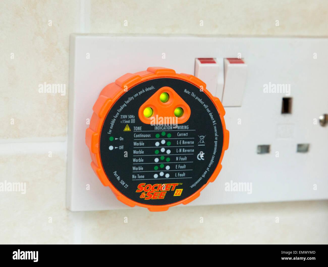 elektrische Sicherheit Tester Netzstecker Stockbild