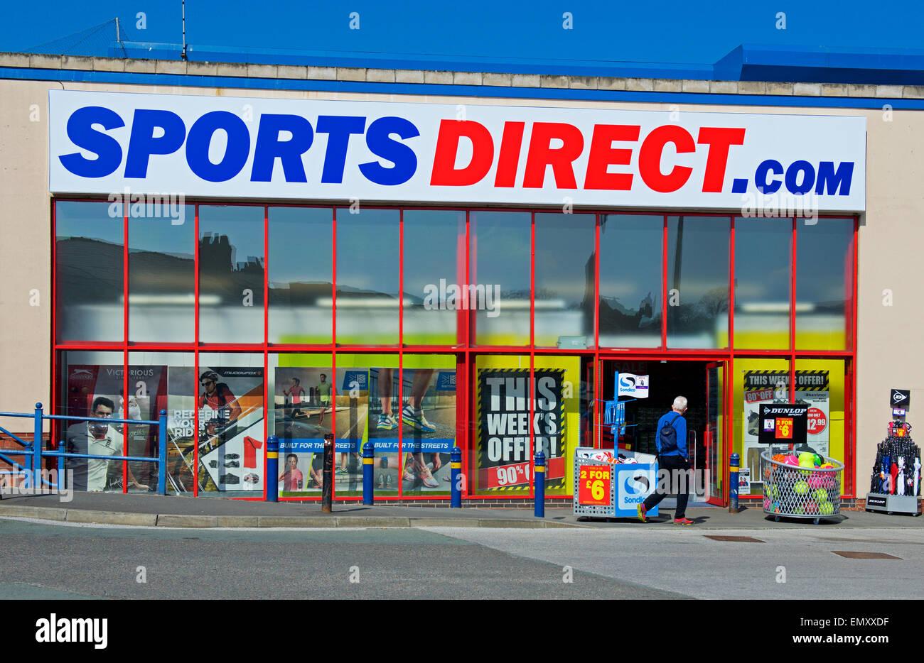 Zweig der Sport direkt in Macclesfield, Cheshire, England UK Stockbild