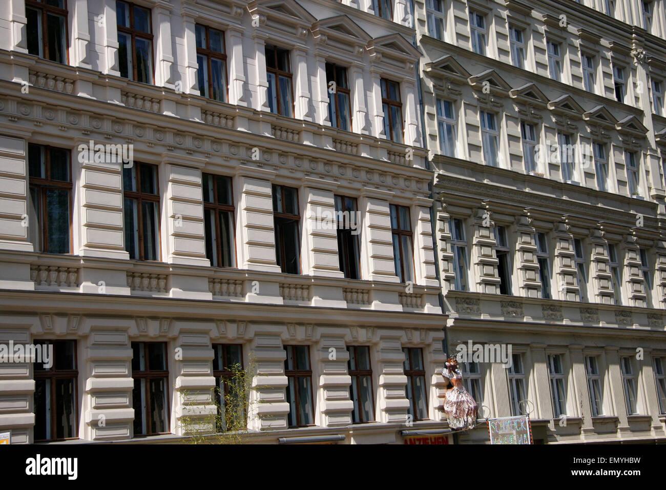 Hausfassade, Berlin-Prenzlauer Berg. -E-Mail: info@360-berlin.de. Stockbild