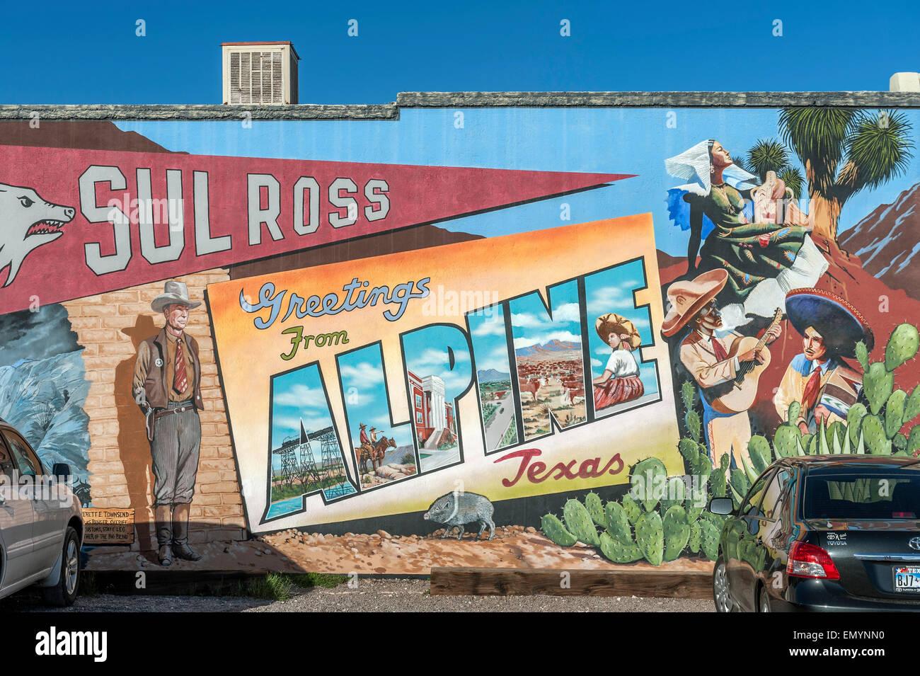 Wandbild Display. Alpine. Texas. USA Stockbild