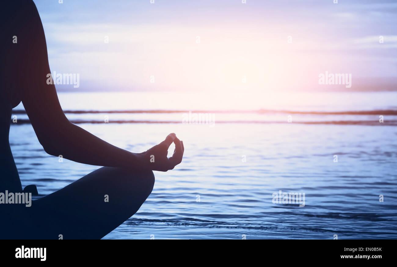 Wellness Konzept, Yoga-Hintergrund Stockbild