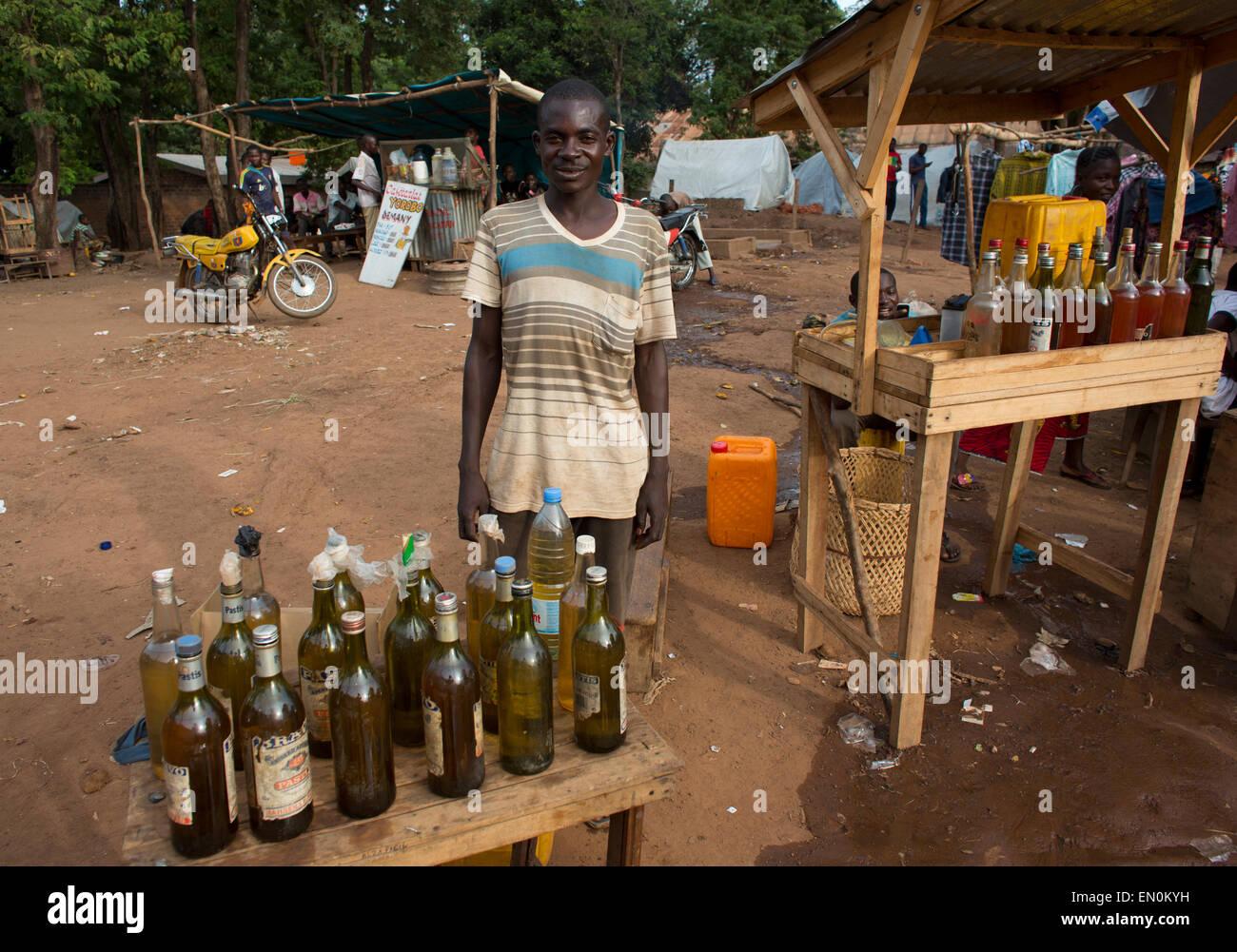 Tankstelle in Afrika Stockfoto