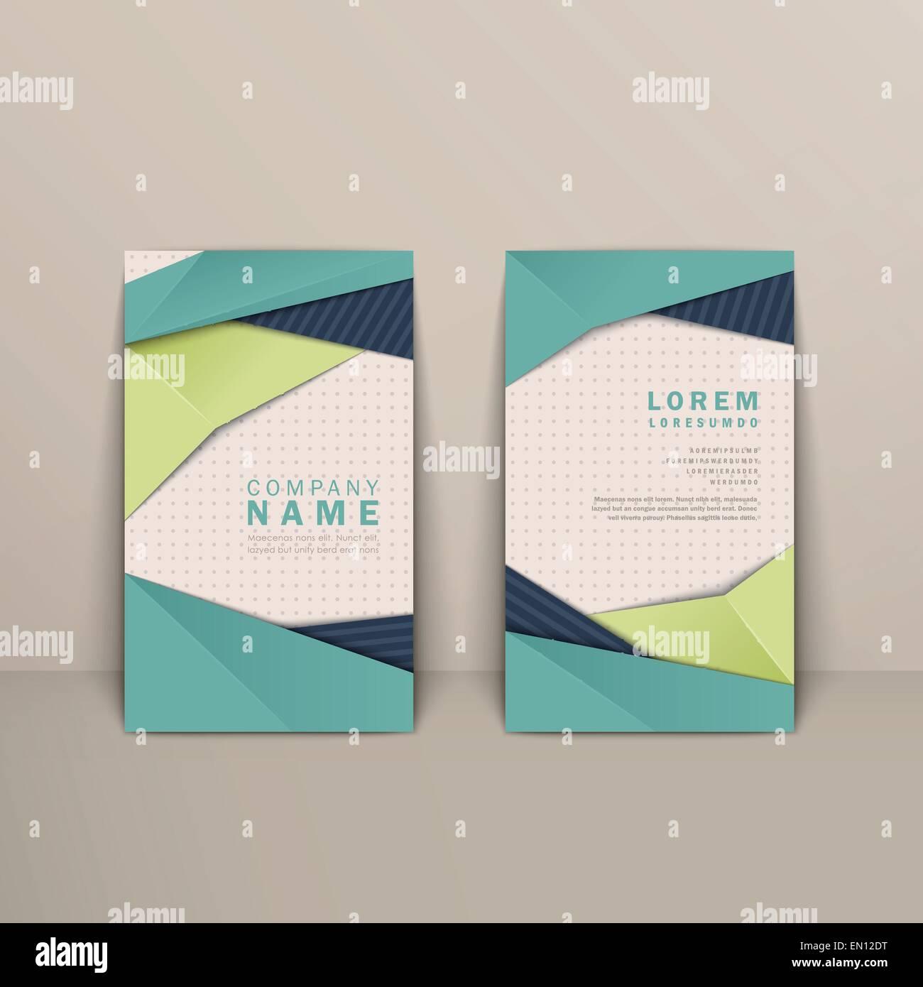 Trendige Visitenkarten Design Mit Origami Stilelemente In
