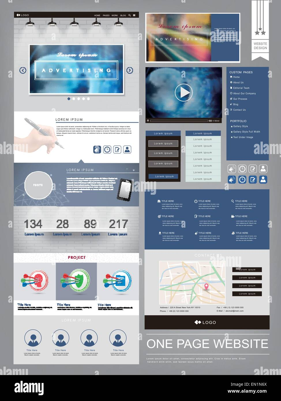Elegant One Page Website Design Stockfotos & Elegant One Page ...