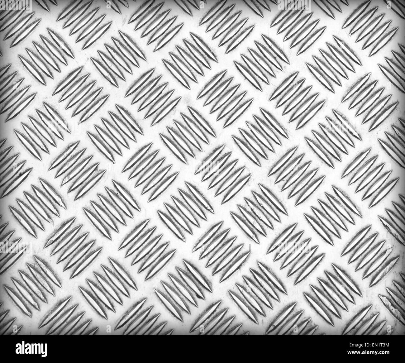 Edelstahl Platte Rutschen Oberflächenmuster Hintergrund. Stockbild