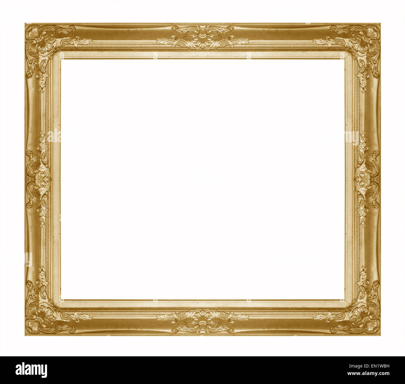 Golden Picture Frame Cutout Stockfotos & Golden Picture Frame Cutout ...