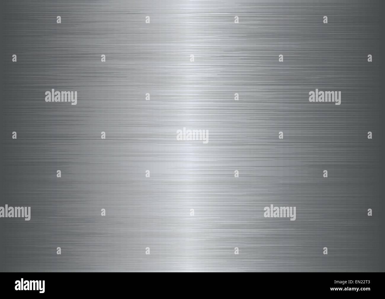 Aus gebürstetem Metall Textur abstrakten Hintergrund. Vektor-illustration Stockbild