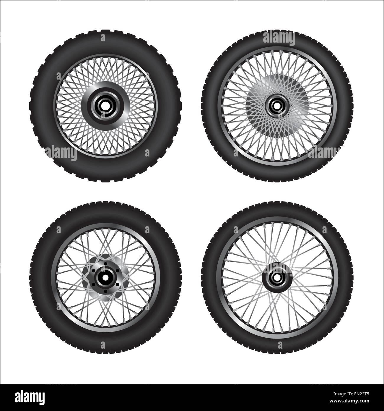 Detaillierten Motorradräder. Vektor-illustration Stockbild