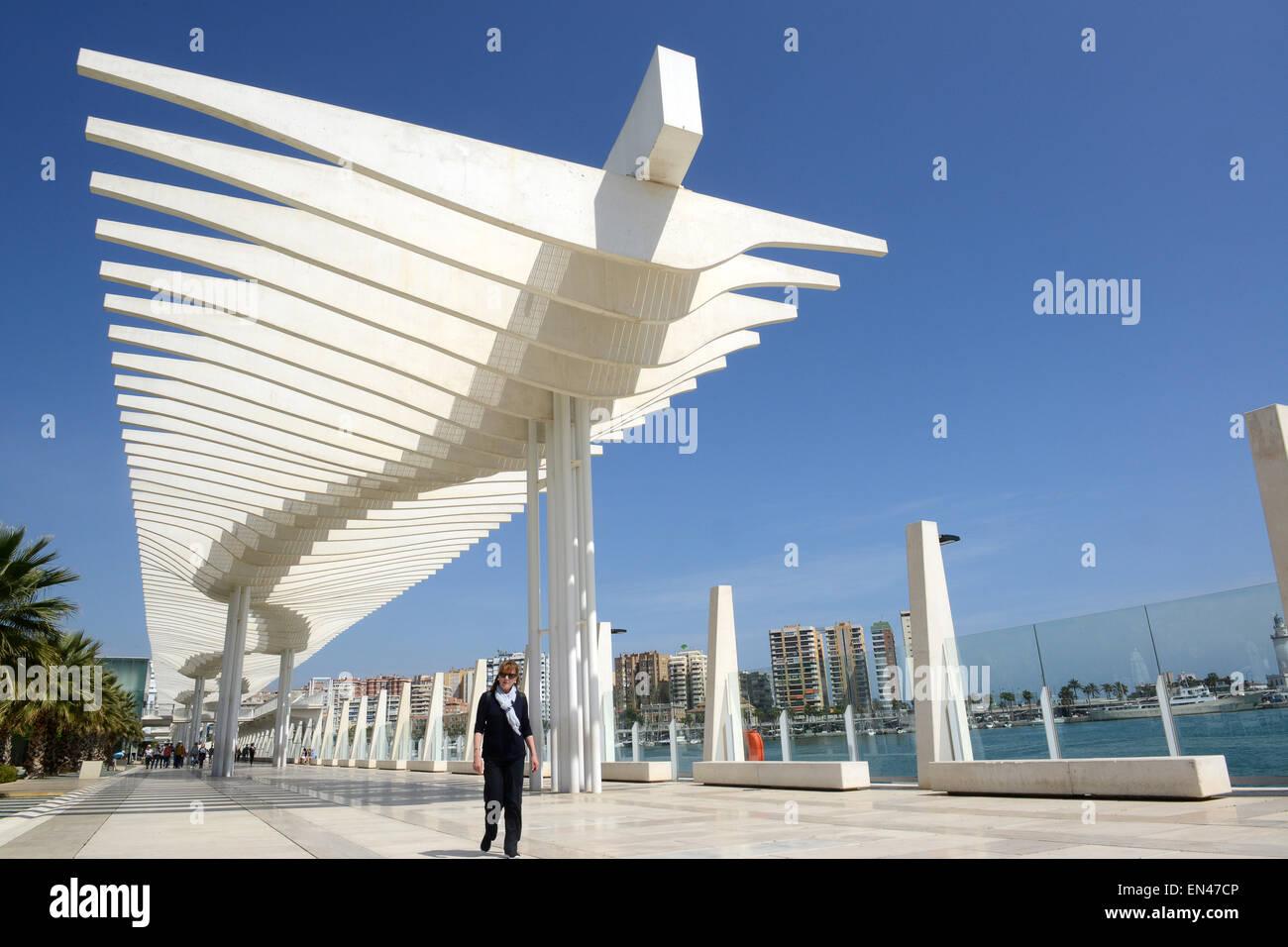Malaga Promenade In Spanien Moderne Architektur